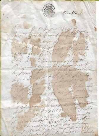 Escritura antiga manuscrita de 1834