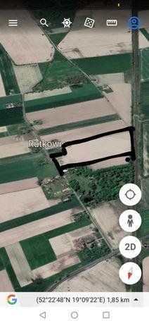 sprzedam Rutkowice 5,74 ha grunty orne ziemia rolna gm. LUBIEŃ KUJ
