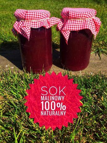 100% sok z malin bez dodatku cukru