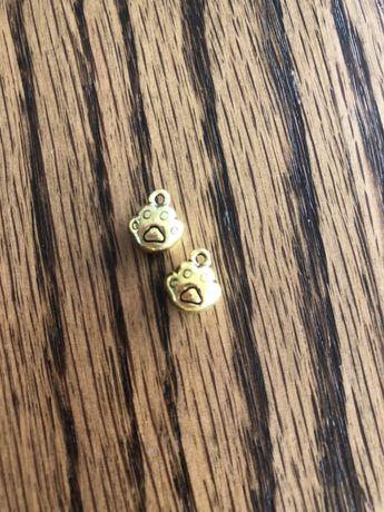 Zawieszka do biżuterii bransoletki łańcuszka łapa łapka złota