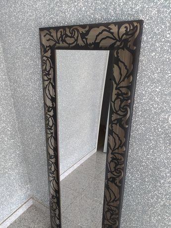 Espelho Toronto negro 38X128 cm