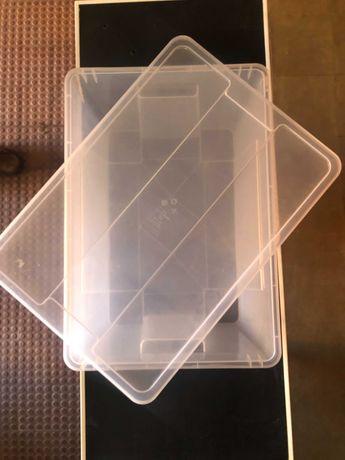 Caixa de plástico transparente - Ikea