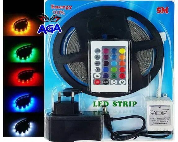 Taśma LED RGB 5 M Wodooporna+Zasilacz+Sterownik+Pilot