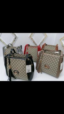 Piękna duża torebka Gucci monogram duża pojemna klasyk
