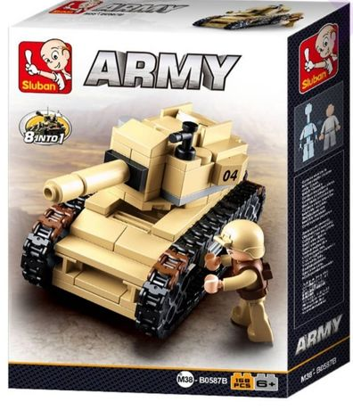 Конструктор танк Sluban Army 158 дет