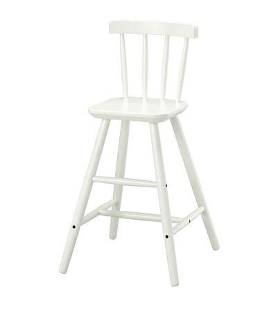 Stołek dziecięcy ikea AGAM biały stołek biurko