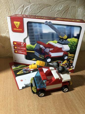 Пожарная машина конструктор Dreamlock 4226 пожежна машина лего