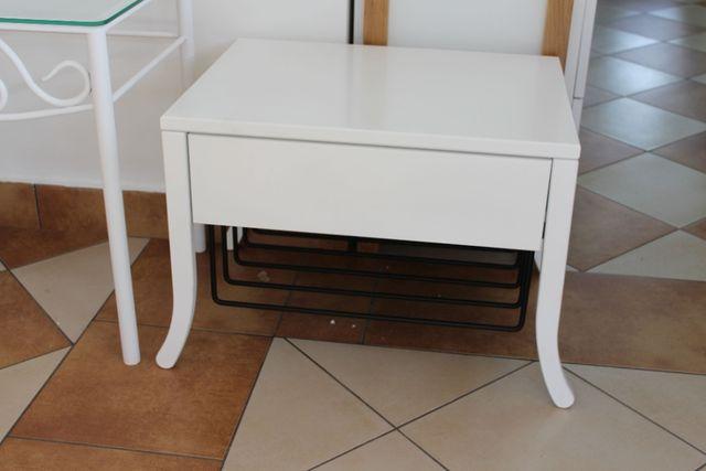 stolik szafka biała