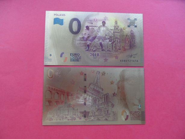 0 Euro Poland Polska pozłacane banknot kolekcjonerski