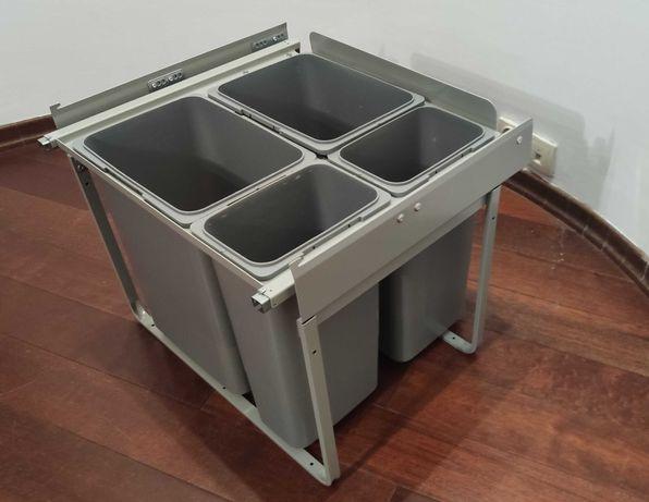 Pojemnik na odpady REJS do szafy 60 cm, 4-koszowy