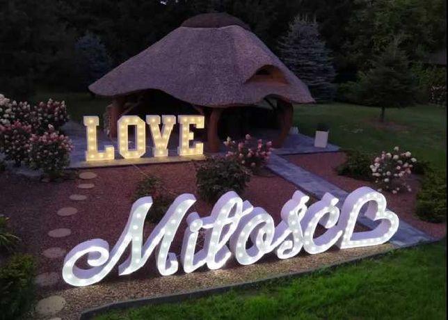Napisy dekoracyjne - LOVE, Miłość! Fotolustro! Fotobudka! Ciężki dym!