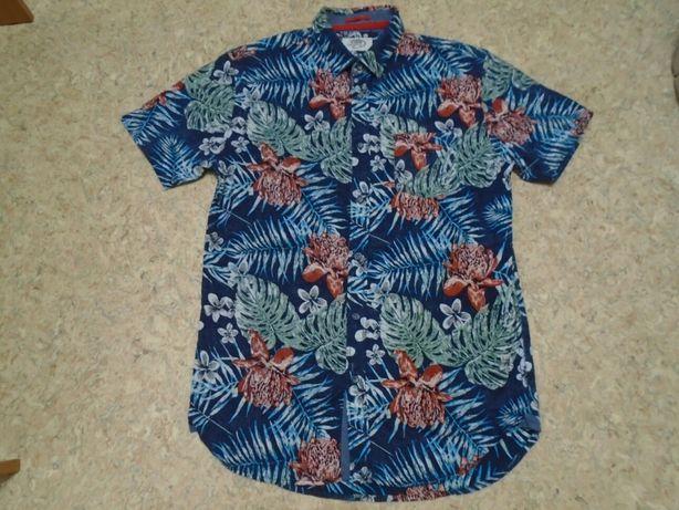 Рубашка гавайская р. М объём груди 100см длина 75см