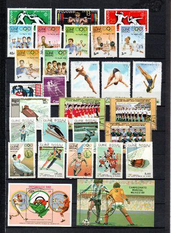 Znaczki - zestaw - sport cały świat