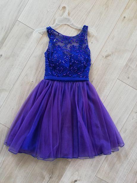 Sukienka niebieska tiulowa