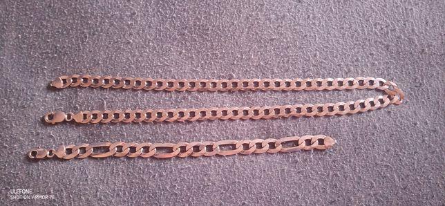Srebrny łańcuszek i bransoletka
