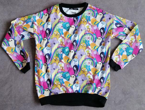 Bluza Pora na Przygodę SINSAY kolorowa jak NOWA rozmiar 36-38 M