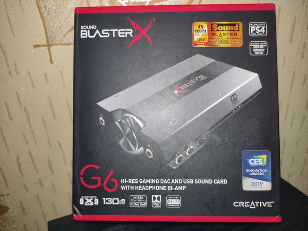 Creative G6 sound blaster внешняя звуковая карта ЦАП игровая usb dac