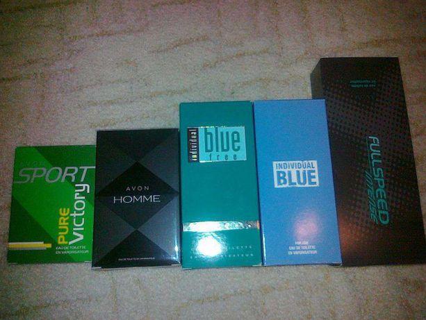 perfumy AVON męskie individual blue i free, black suede touch,