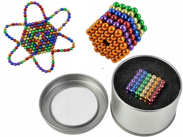 Разноцветный неокуб 216 шариков. 5мм. Конструктор Магнитные шарики.