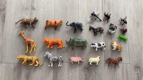 Zwierzaki tygrys zyrafa słoń