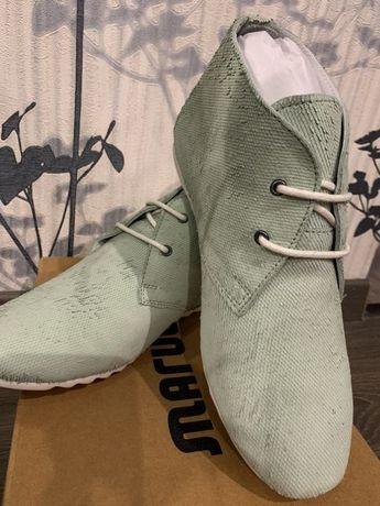 Шкіряні мокасіни Maruti Розмір 37 зелені сліпони кросівки (кроссовки)