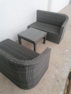Большой 2-х местный садовый диван + столик!