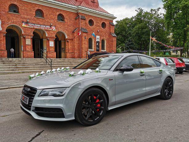 Auto do ślubu, AUDI S7 jasny środek 440koni WOLNE TERMINY 2021 Łódzkie