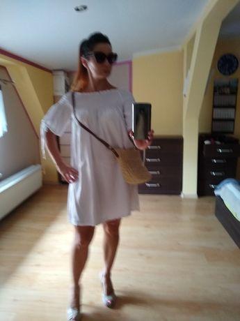 Sukienka biała s/m