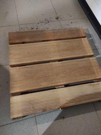 Podesty ogrodowe drewniane modrzew syberyjski