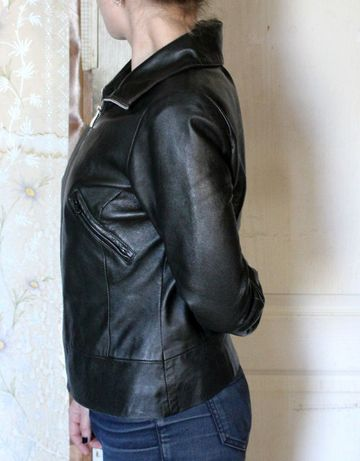 Куртка кожанка Vero Moda, натуральная кожа цена снижена