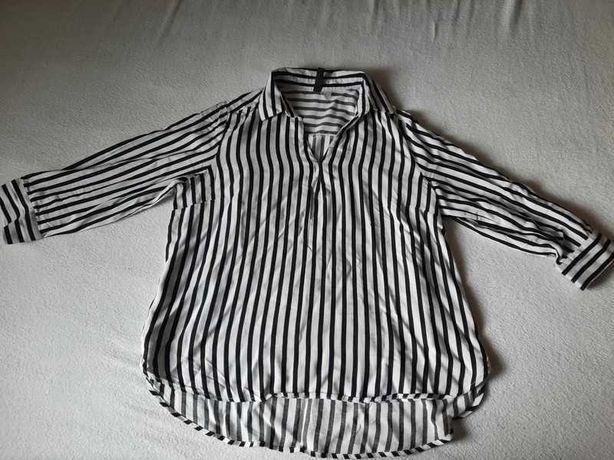 Koszula w czarno biale pasy