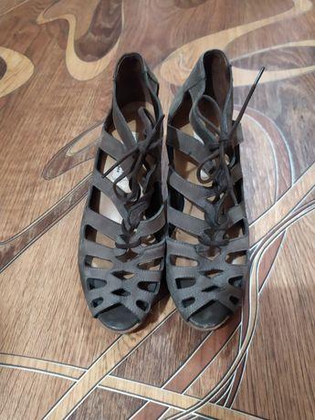 Немецкие кожаные туфли босоножки Paul Green Munchen