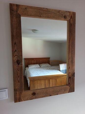 Lustro ze starego drewna, styl rustykalny, retro, rękodzieło, unikat