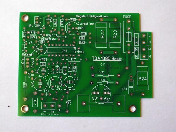 Плата TDA1085, регулятор оборотов и мощности
