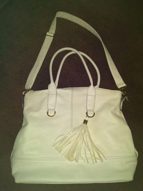 torebka biała, duża