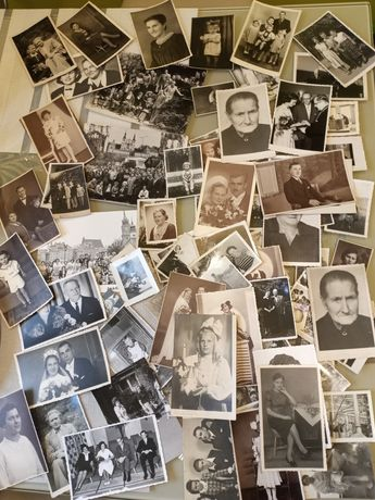 Zdjęcia antyk czarno białe 90 szt