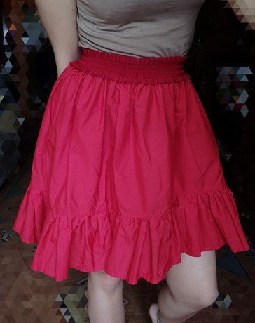 Юбка M L XL спідниця красная миди мини солнце блуза сарафан платье топ