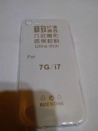 Etui case silikonowy iPhone 7 7 plus pokrowiec przeźroczysty gumowy!