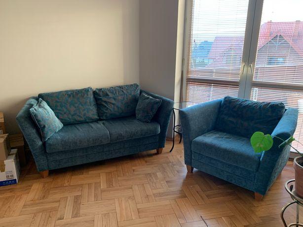 sofa  2 - osobowa + fotel