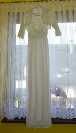 Piękna suknia ślubna ciążowa + bolerko
