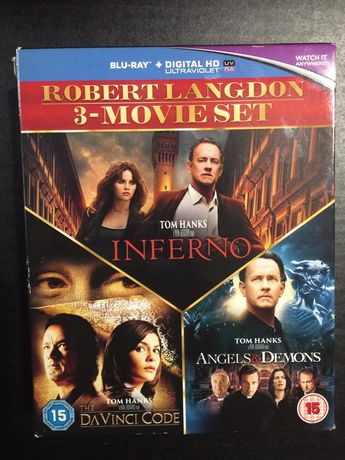 DVD blueray box set: Robert Langdon inferno - Angels&demons - da vinc
