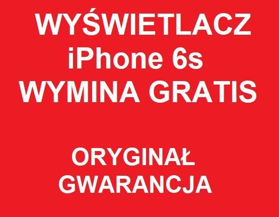 Wyświetlacz do iPhone 6s w kolorze czarnym lub białym Oryginał