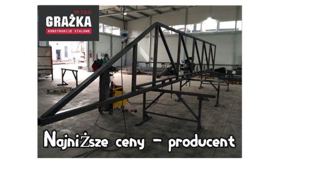 Brama Przesuwna Stalowa - 7,5m - konstrukcja - Producent