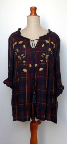 bluzka tunika luźny fason haft chwosty L