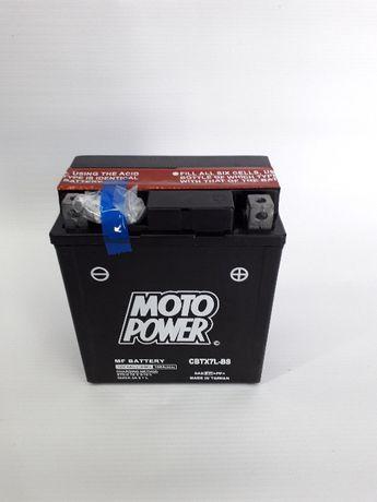 Akumulator motocyklowy CBTX7L-BS YTX7L-BS Moto Power AGM 12V 6Ah 100A