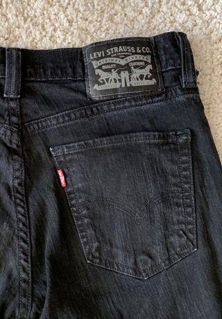 LEVIS Levi Strauss czarne spodnie dżinsy jeansy 29/32