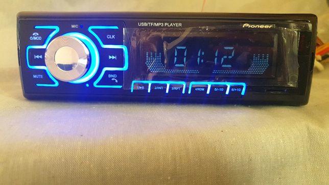 Магнитола 1080 USB флешки + SD карты памяти + AUX + FM Bluetooth