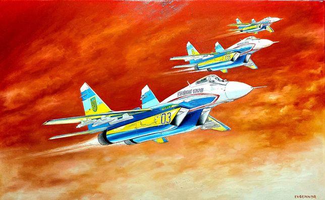 Картины авиации, техники, написанные маслом на холсте,3D при электриче