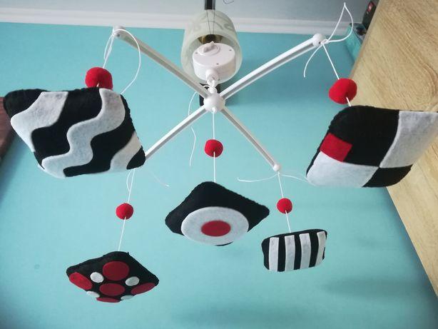 Karuzela Kontrastowa handmade Montessori z pozytywką DOSTĘPNA