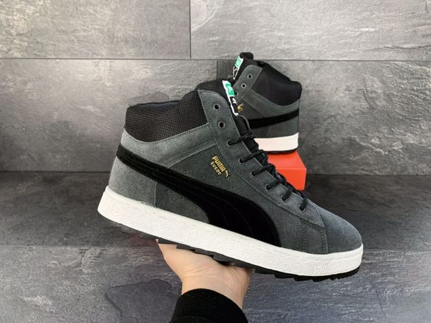 Зимние кеды Puma Suede мужские зимние кроссовки Пума ботинки